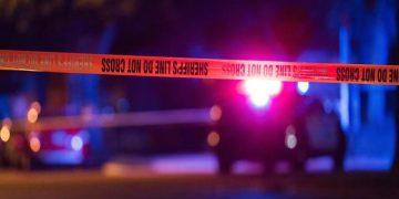 Thurman Blevins police shooting scene, Minneapoils, Minnesota // SHERIFF'S LINE DO NOT CROSS