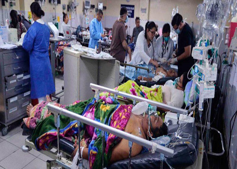 Los centros asistenciales y de triajes operan a su máxima capacidad.